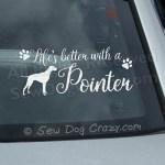 Pretty Pointer Car Window Sticker