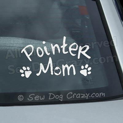 Pointer Mom Window Sticker