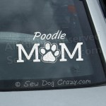 Poodle Mom Car Window Stickers