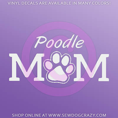 Poodle Mom Car Stickers