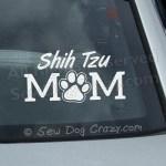 Shih Tzu Mom Car Window Stickers