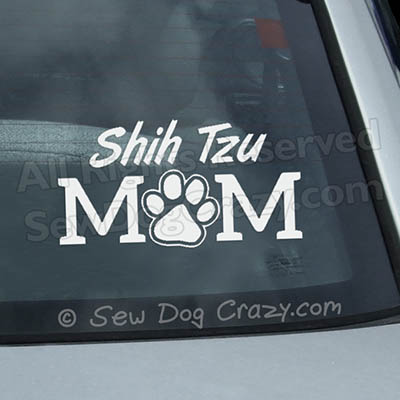 Shih Tzu Mom Car Window Stickers