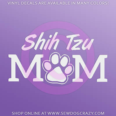 Shih Tzu Mom Car Stickers
