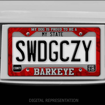 Barkeye license plate frame