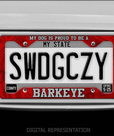 Barkeye license plate frame