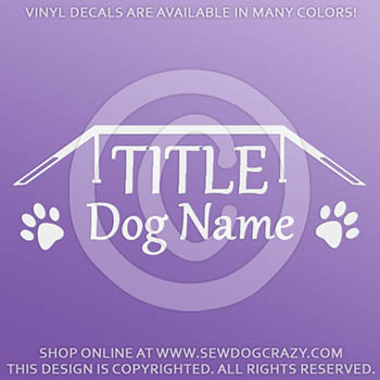 Personalized Agility Title Decals