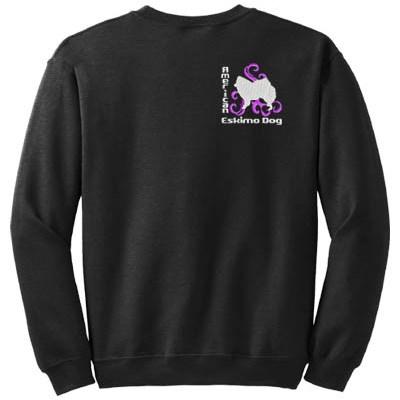 Embroidered American Eskimo Dog Sweatshirt