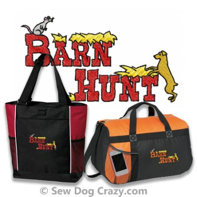Embroidered Barn hunt Bags