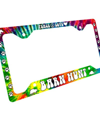 Tie Dye Barn Hunt License Plate Frame