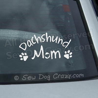 Dachshund Mom Car Window Sticker