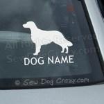 Custom Flat Coated Retriever Car Window Sticker