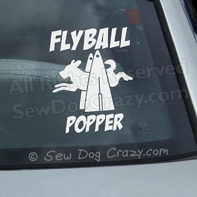 Custom Flyball Car Window Sticker