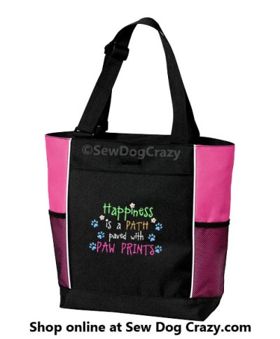 Cute Embroidered Dog Lover Tote Bag