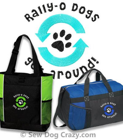 Embroidered Rally Obedience Bags