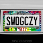 Tie Dye Rally License Plate Frame
