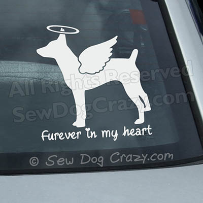 Angel Rat Terrier Car Window Sticker
