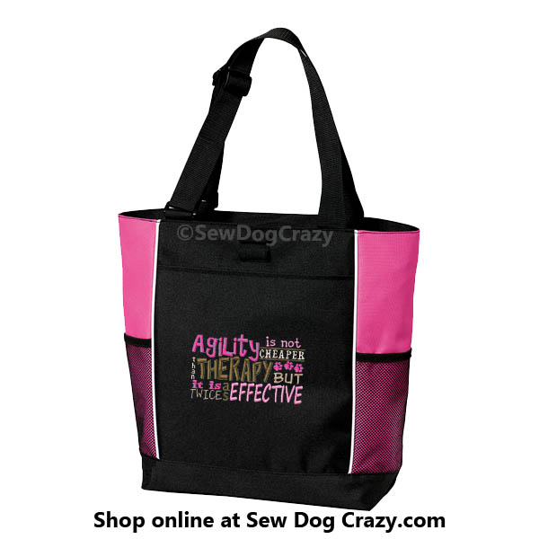 Embroidered Agility Tote Bag