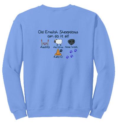 Personalized Embroidered Dog Sports Sweatshirt