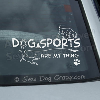 Dog Sports Car Decals