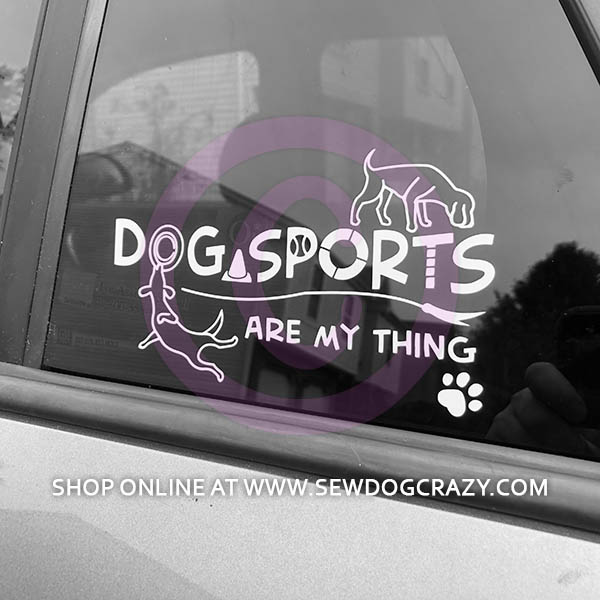 Dog Sports Car Window Stickers