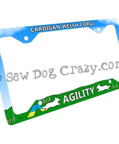 Corgi Agility License Plate Frame