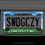 Labrador Agility License Plate Frame