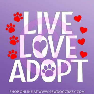 Live Love Adopt Car Decals