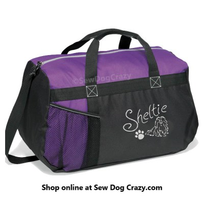 Embroidered Sheltie Duffel Bag