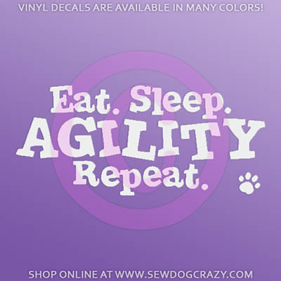 Eat Sleep Agility Car Decals