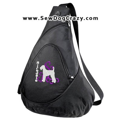 Embroidered Airedale Bag