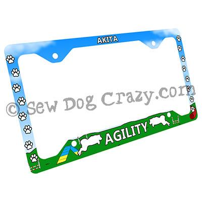 Agility Akita License Plate Frame