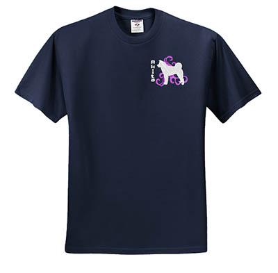 Embroidered Akita Tshirt