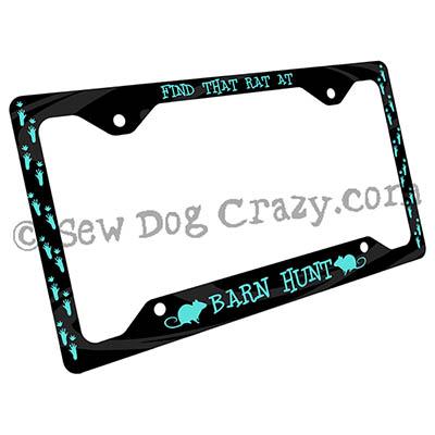 Cool Barn Hunt License Plate Frame