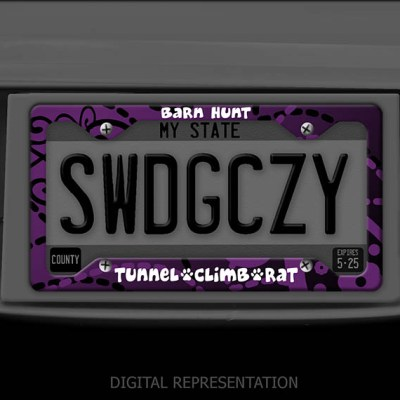 Purple Barn Hunt License Plate Frame