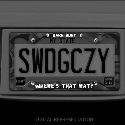 Where's that rat Barn Hunt license plate frame
