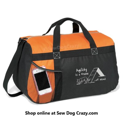 Border Collie Agility Duffel Bag