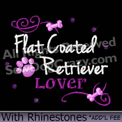 Embroidered Flat Coated Retriever Shirts
