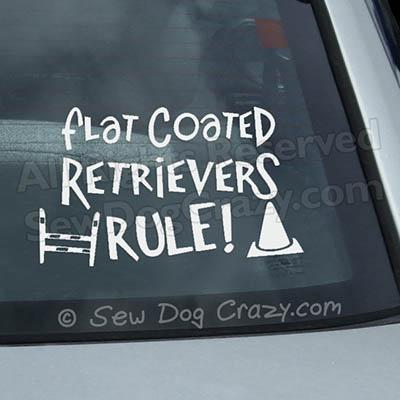 Flat Coated Retriever Car Deca;