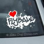 Love Flyball Car Window Sticker