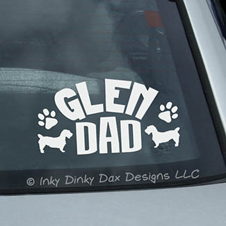 Glen of Imaal Terrier Dad Car Window Sticker