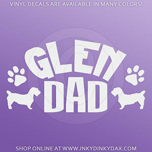 Glen of Imaal Terrier Dad Car Sticker