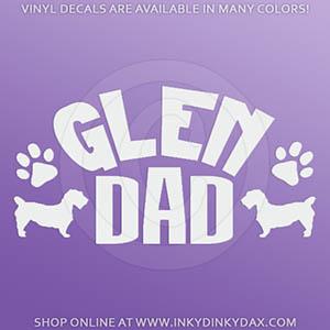 Glen of Imaal Terrier Dad Car Sticker
