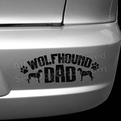 Irish Wolfhound Dad Bumper Sticker