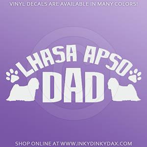 Lhasa Apso Dad Car decal