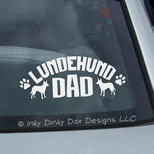 Lundehund Dad Car Window Sticker