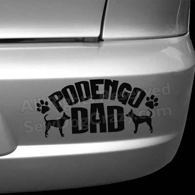 Portuguese Podengo Dad Car Decals