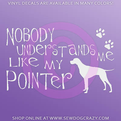 Pointer Car Window Sticker