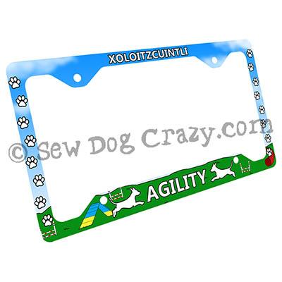 Agility Xolo License Plate Frame