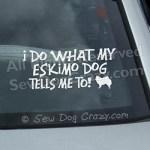 Funny American Eskimo Dog Car Decal