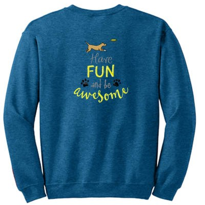 Fun Disc Dog Sweatshirt